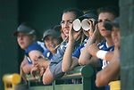 The Basic Wolves players watch the action against the Douglas Tigers in the NIAA 4A softball tournament, in Reno, Nev., on Thursday, May 17, 2018. Douglas won 8-5. Cathleen Allison/Las Vegas Review-Journal