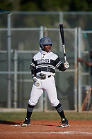 Miles Jackson (5) during the WWBA World Championship at Terry Park on October 11, 2020 in Fort Myers, Florida.  Miles Jackson, a resident of Austell, Georgia who attends Riverwood High School, is committed to Hillsborough Community College.  (Mike Janes/Four Seam Images)