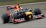 Red Bull Racing driver Sebastian Vettel of Germany speeds his RB8 car during the UBS Chinese F1 Grand Prix at Shanghai International circuit April 13, 2012. Photo by Victor Fraile