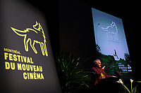 October 10, 2012 - Montreal. Quebec , Canada - Claude Chamberland  at the <br /> Opening of Montreal New Cinema Festival (Festival du Nouveau Cinema de Montreal) at Place des arts  with LA MISE A L'AVEUGLE directed by Simon Galiero