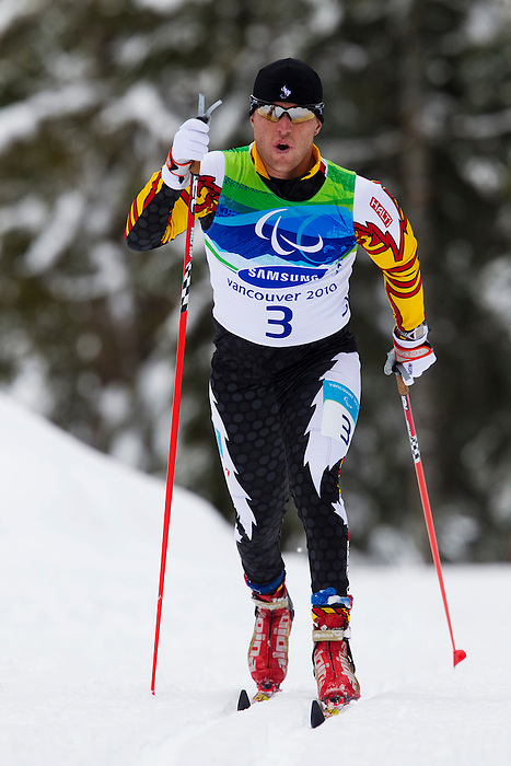 Tyler Mosher, Vancouver 2010 - Para Nordic Skiing // Ski paranordique.<br /> Tyler Mosher competes in Para Nordic Skiing // Tyler Mosher participe en ski paranordique. 15/03/2010.