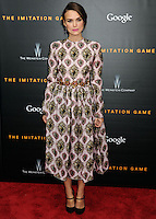 NEW YORK CITY, NY, USA - NOVEMBER 17: Keira Knightley arrives at the New York Premiere Of The Weinstein Company's 'The Imitation Game' held at the Ziegfeld Theatre on November 17, 2014 in New York City, New York, United States. (Photo by Celebrity Monitor)