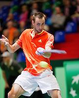 08-04-12, Netherlands, Amsterdam, Tennis, Daviscup, Netherlands-Rumania, Thomas Schoorel