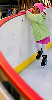 The annual ice skating rink that appears each winter in Uptown Charlotte has become a favorite tradition of many residents...No model releases (editorial only)
