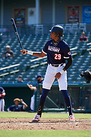 James Wood (29) bats during the Baseball Factory All-Star Classic at Dr. Pepper Ballpark on October 4, 2020 in Frisco, Texas.  James Wood (29), a resident of Olney, Maryland, attends IMG Academy.  (Mike Augustin/Four Seam Images)