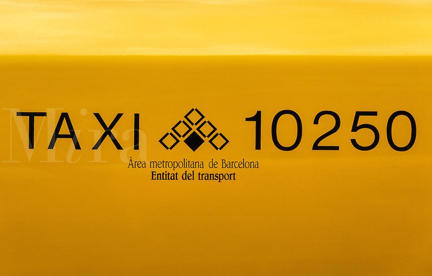 Taxi detail, Barcelona, Spain