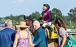August 6, 2021: Art Collector #4, ridden by jockey Luis Saez wins the Alydar Stakes at Saratoga Race Course in Saratoga Springs, NY on August 6, 2021. Rob Simmons/Eclipse Sportswire/CSM