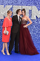 "Taron Egerton, Mum Christine and girlfriend Emily Thomas <br /> arriving for the ""Rocketman"" premiere in Leicester Square, London<br /> <br /> ©Ash Knotek  D3502  20/05/2019"