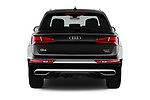 Straight rear view of 2018 Audi Q5 Prestige 5 Door SUV stock images