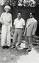 Iraq 1958.Bagdhad: after 12 years in jail, Sheikh Ahmed with  Ibrahim Fayli, a photographer and Ois Mah, the bodyguard