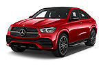 2021 Mercedes Benz GLE-Coupe 350-e-AMG-Line 5 Door SUV Angular Front automotive stock photos of front three quarter view