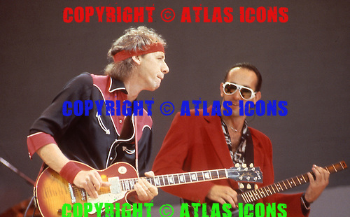 DIRE STRAITS ; LIVE AID: 1985<br /> Photo Credit: David Plastik/Atlas Icons.com