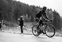 Jeremy Cornu (FRA/Direct Energie) up the Col du Rosier<br /> <br /> 102nd Liège-Bastogne-Liège 2016