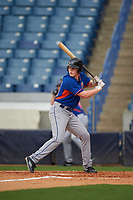 Ryan Reynolds (20) of Ouachita Christian School in Monroe, Louisiana playing for the New York Mets scout team during the East Coast Pro Showcase on July 28, 2015 at George M. Steinbrenner Field in Tampa, Florida.  (Mike Janes/Four Seam Images)