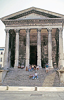 front view of Maison Carrée, Nimes France, late 1st c. CE