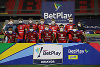 PASTO - COLOMBIA,18-11-2020: Jugadores del Pasto posan para una foto pervio al partido entre Deportivo Pasto y Deportivo Independiente Medellín por la fecha 15 de la Liga BetPlay DIMAYOR I 2020 jugado en el estadio Estadio La Libertad de la ciudad de Pasto. / Players of Pasto pose toa photo prior a match between Deportivo Pasto and Independiente Medellin for the date 15 BetPlay DIMAYOR League I 2020 played at La Libertad stadium in Pasto city. Photo: VizzorImage / Leonardo Castro / Cont