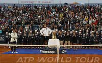 Tenis, Serbia Open 2011.Final.Novak Djokovic (SRB) Vs. Feliciano Lopez (ESP).Feliciano Lopez, during ceremony.Beograd, 01.05.2011..foto: Srdjan Stevanovic