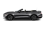 Car driver side profile view of a 2019 Ford Mustang EcoBoost 2 Door Convertible
