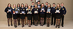 May 8, 2017- Tuscola, IL- The 2016-2017 FFA award winners after their annual banquet. Back row from left are Machenzie Stewart, McKinlee Miller, Caleigh Parsley, Matthew Reese, Cameron Ochs, Ethan Stumeier, Kevin Miller, and Coulson Poffenberger. Front row from left are Logan Stenger, Calleigh Miller, Emma Zimmer, Morgan Jones, Grace Voyles, Abbie Heath, and Morgan Stewart. [Photo: Douglas Cottle]
