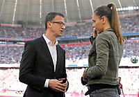 28.04.2018, Football 1. Bundesliga 2017/2018, 32.  match day, FC Bayern Muenchen - Eintracht Frankfurt, in Allianz-Arena Muenchen. sport director  Fredi Bobic (li, Eintracht Frankfurt)  Interview *** Local Caption *** © pixathlon