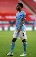 31st October 2020; Bramall Lane, Sheffield, Yorkshire, England; English Premier League Football, Sheffield United versus Manchester City; Raheem Sterling of Manchester City moves forward with play