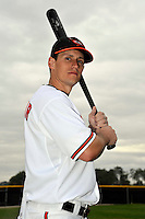 Feb 27, 2010; Tampa, FL, USA; Baltimore Orioles  outfielder Jeff Salazar (77) during  photoday at Ed Smith Stadium. Mandatory Credit: Tomasso De Rosa