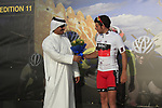Adam Blythe (GBR) BMC Racing Team leads the Young Riders Jersey at the finish of Stage 1 of the Tour of Qatar 2012 running 142.5km from Barzan Towers to Doha Golf Club, Doha, Qatar. 5th February 2012.<br /> (Photo by Eoin Clarke/NEWSFILE).