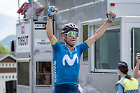 at 41 yrs old Alejandro Valverde (ESP/Movistar) wins another Dauphiné stage, 13 years after his previous ones...<br /> <br /> 73rd Critérium du Dauphiné 2021 (2.UWT)<br /> Stage 6 from Loriol-sur-Drome to Le Sappey-en-Chartreuse (167km)<br /> <br /> ©kramon