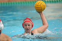 STANFORD, CA - FEBRUARY 14:  Kim Krueger of the Stanford Cardinal during Stanford's 19-4 win over UC Santa Cruz on February 14, 2009 at the Avery Aquatic Center in Stanford, California.