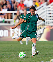 Saint Louis Athletica defender Nikki Cross (19) during a WPS match at Anheuser-Busch Soccer Park, in St. Louis, MO, July 26, 2009.  The match ended in a 1-1 tie.