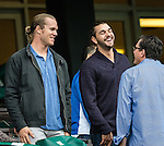 ELMONT, NY - OCTOBER 08: NY Mets pitcher, Noah Syndergaard, prior to the 145th Running of The Champagne, on Jockey Club Gold Cup Day at Belmont Park on October 8, 2016 in Elmont, New York. (Photo by Douglas DeFelice/Eclipse Sportswire/Getty Images)