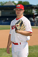 June 30th, 2007:  Thomas Eager of the Batavia Muckdogs, Short-Season Class-A affiliate of the St. Louis Cardinals at Dwyer Stadium in Batavia, NY.  Photo by:  Mike Janes/Four Seam Images