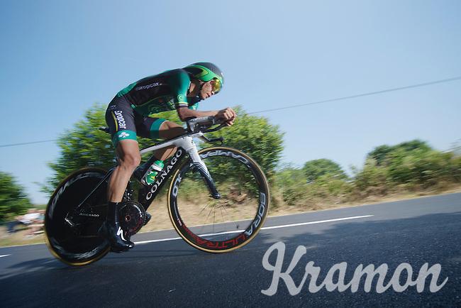 Yukia Arashiro (JAP) <br /> <br /> Tour de France 2013<br /> stage 11: iTT Avranches - Mont Saint-Michel <br /> 33km