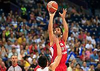 Kosarka Basketball<br /> Kosarkaski Savez Srbije-Beogradski Acibadem Trofej<br /> Srbija v Kina<br /> Milos Teodosic (R)<br /> Belgrade, 15.08.2014.<br /> foto: Srdjan Stevanovic/Starsportphoto ©