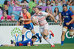England vs South Africa during their Pool A match as part of the HSBC Hong Kong Rugby Sevens 2017 on 07 April 2017 in Hong Kong Stadium, Hong Kong, China. Photo by Weixiang Lim / Power Sport Images