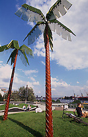 Deutschland, Hamburg, Antoni-Park in St. Pauli (Park auf Parkhausdach)