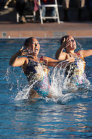 STANFORD, CA - FEBRUARY 7:  Debbie Chen (left) and Taylor Durand (right) of the Stanford Cardinal during Stanford's 88-78 win against the Incarnate Word Cardinals on February 7, 2009 at Avery Aquatic Center in Stanford, California.