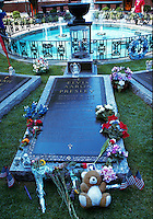 Grave of Elvis Presley at his home, Graceland, Memphis, Tennessee