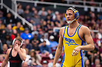 STANFORD, CA - March 7, 2020: Russell Rohlfing of Cal State Bakersfield during the 2020 Pac-12 Wrestling Championships at Maples Pavilion.
