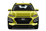 Car photography straight front view of a 2018 Hyundai Kona Twist 5 Door SUV