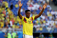 SAMARA - RUSIA, 28-06-2018: Yerry MINA jugador de Colombia en acción durante partido de la primera fase, Grupo H, entre Senegal y Colombia por la Copa Mundial de la FIFA Rusia 2018 jugado en el estadio Samara Arena en Samara, Rusia. / Yerry MINA player of Colombia in action during the match between Senegal and Colombia of the first phase, Group H, for the FIFA World Cup Russia 2018 played at Samara Arena stadium in Samara, Russia. Photo: VizzorImage / Julian Medina / Cont