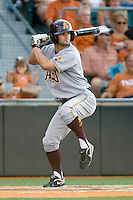 Arizona State Sun Devil second baseman Zach McPhee #2 at bat against the Texas Longhorns in NCAA Tournament Super Regional Game #3 on June 12, 2011 at Disch Falk Field in Austin, Texas. (Photo by Andrew Woolley / Four Seam Images)