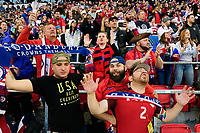 HARRISON, NJ - MARCH 08: USA supporters during a game between Spain and USWNT at Red Bull Arena on March 08, 2020 in Harrison, New Jersey.