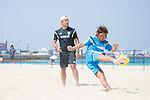 (L-R)   Marcelo Mendes, Shunta Suzuki (JPN),<br /> APRIL 20, 2014 - Beach Soccer :<br /> Beach Soccer Japan national team candidates training camp in Okinawa, Japan. (Photo by Wataru Kohayakawa/AFLO)