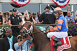 June 6, 2015: Coach Inge (#1), John Velazquez up, wins the 127th running of the Grade II Brooklyn Invitational at Belmont Park, Elmont, NY. Todd Pletcher trains; owner is Repole Stabe. Joan Fairman Kanes/ESW/CSM