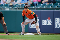 Norfolk Tides first baseman Ryan Mountcastle (20) during an International League game against the Buffalo Bisons on June 21, 2019 at Sahlen Field in Buffalo, New York.  Buffalo defeated Norfolk 2-1, the first game of a doubleheader.  (Mike Janes/Four Seam Images)