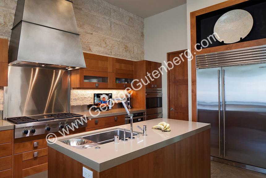Stock photo of residential kitchen Stock photo of ultra modern residential kitchen
