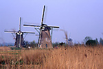 Europe, NLD, Netherlands, Provinz Zuid-Holland, Kinderdijk, Typical Windmills