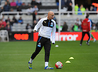 Jonjo Shelvey of Newcastle United starts on the bench during the Barclays Premier League match between Newcastle United and Swansea City played at St. James' Park, Newcastle upon Tyne, on the 16th April 2016