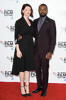 """Jessica and David Oyelowo<br /> at the London Film Festival photocall for the opening film, """"A United Kingdom"""", Mayfair HotelLondon.<br /> <br /> <br /> ©Ash Knotek  D3159  05/10/2016"""